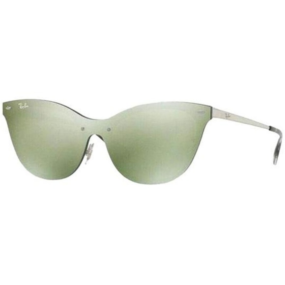 Ray-Ban Cat Eye Style Green/Silver Mirrored Lens.